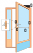 Package 6P Escape - High Security Narrow stile door